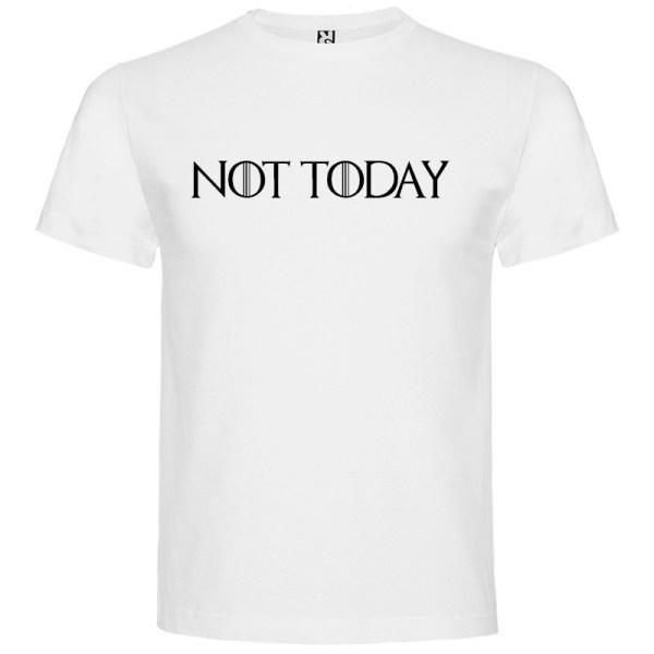 Camiseta para hombre manga corta Not Today Juego de Tronos color blanco