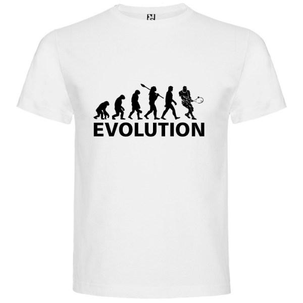 Camiseta manga corta para hombre Evolución Tenis en color blanco
