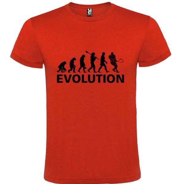 Camiseta manga corta para hombre Evolución Tenis en color rojo