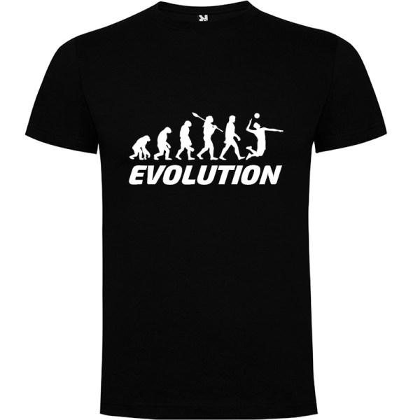 Camiseta manga corta para hombre Evolución Voleibol en color Negro
