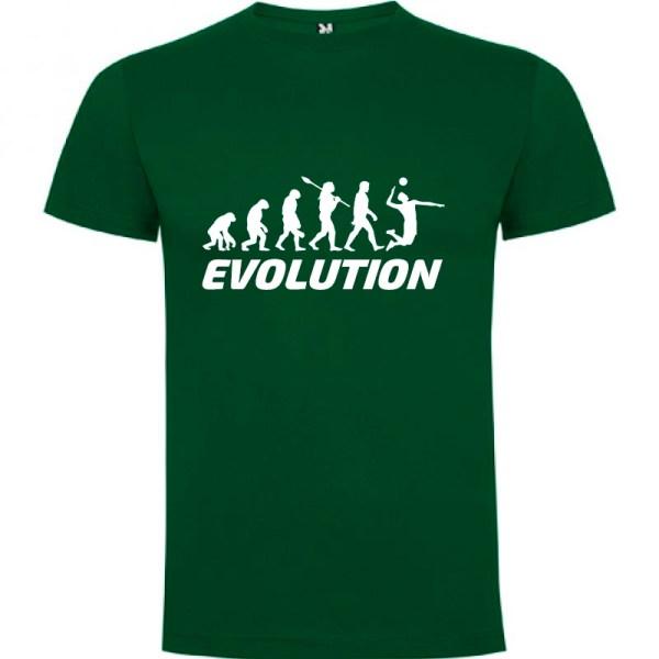 Camiseta manga corta para hombre Evolución Voleibol en color Verde Botella