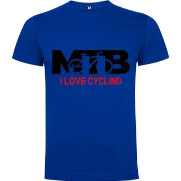 Camiseta para hombre MTB I Love Cycling en color Azul Royal