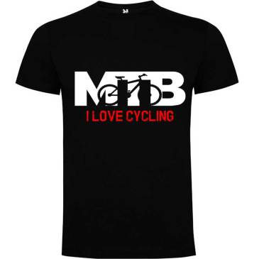 Camiseta para hombre MTB I Love Cycling en color Negro