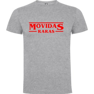 Camiseta para hombre Stranger Things Movidas Raras en color Gris