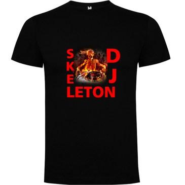 Camiseta para hombre Skeleton DJ en color negro