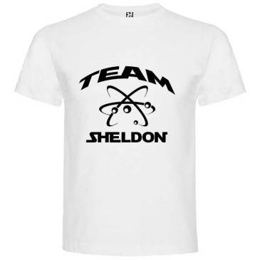 Camiseta para Hombre Big Bang Team Sheldon en color Blanco
