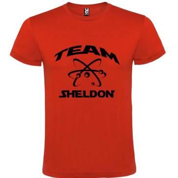 Camiseta para Hombre Big Bang Team Sheldon en color Rojo