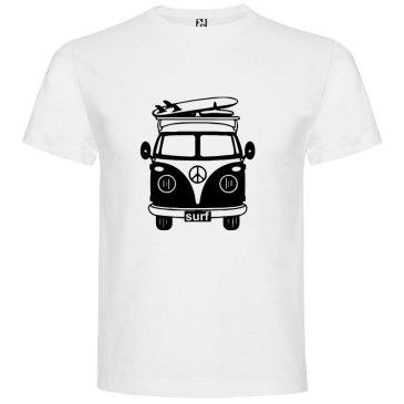 Camiseta para hombre Surf Van Vintage en color Blanco