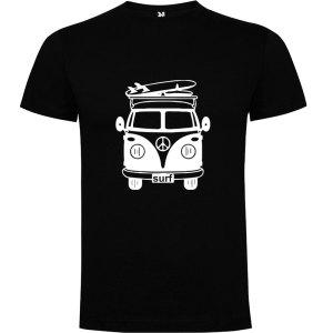 Camiseta para hombre Surf Van Vintage en color Negro
