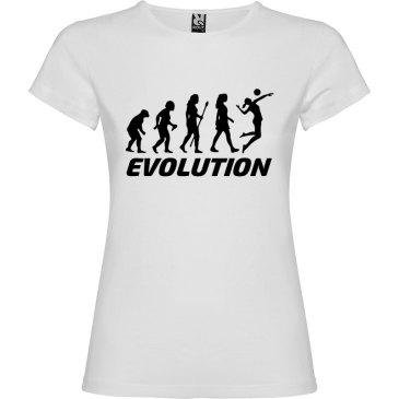Camiseta manga corta para mujer Evolución Voleibol en color Blanco
