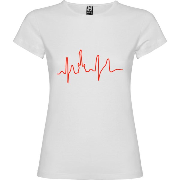 Camiseta para mujer I Live Rock nn color Blanco