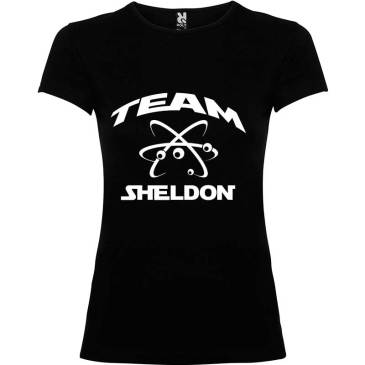 Camiseta para mujer Big Bang Team Sheldon en color Negro