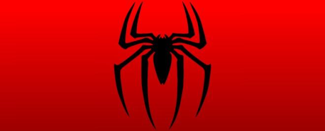 Detalle diseño Taza cerámica fondo rojo logo Spider man