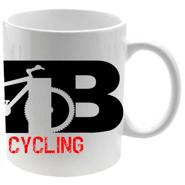 Taza cerámica MTB I Love Cycling en blanco