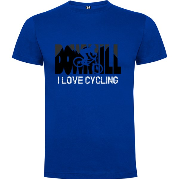 Downhill Camiseta I Love Cycling en color azul royal