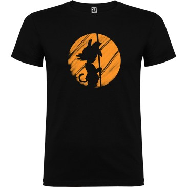 Camiseta para chico Silueta Goku color negro