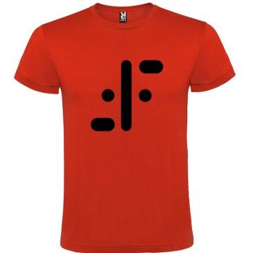 Camiseta para hombre serie tv visitantes en rojo