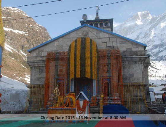 Kedarnath Temple During winter