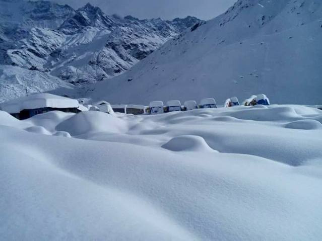 Snowfall in Kedarnath