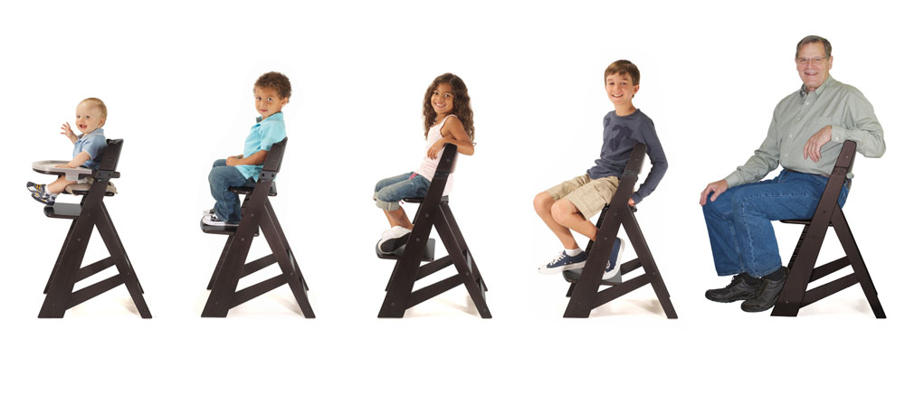 keekaroo high chair bed pillow walmart height right tray age progression kit