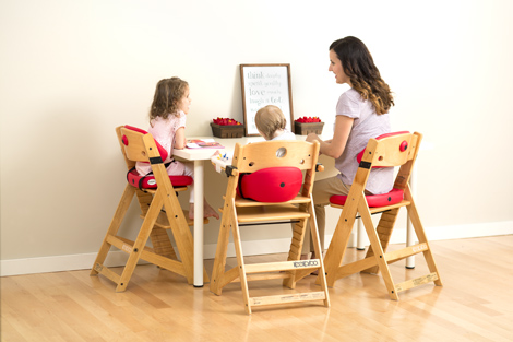 age for high chair liberty dining chairs height right with infant insert keekaroo progression