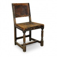 Chairs Prop Hire  Leather Studded Chair - Keeley Hire