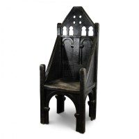 Medieval Prop Hire  High Back Throne Chair - Keeley Hire