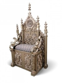 Chairs Prop Hire  Ornate Gold Throne - Keeley Hire