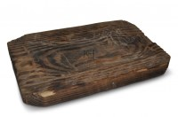 Woodenware Prop Hire  Square Wooden Plate - Keeley Hire