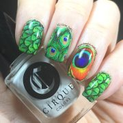 peacock feather - keely's nails