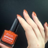 Simple Fall nail art using Picture Polish Autumn - Keely's ...