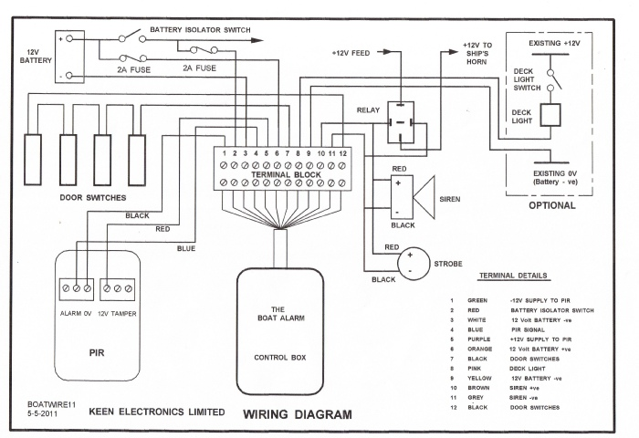 12 volt marine wiring diagram deep red a self build