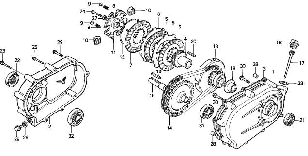 Getriebe/Kupplung GX390 OEM