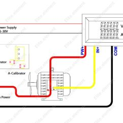 Digital Meter Wiring Diagram Hpm Light Switch Volt Amp Free