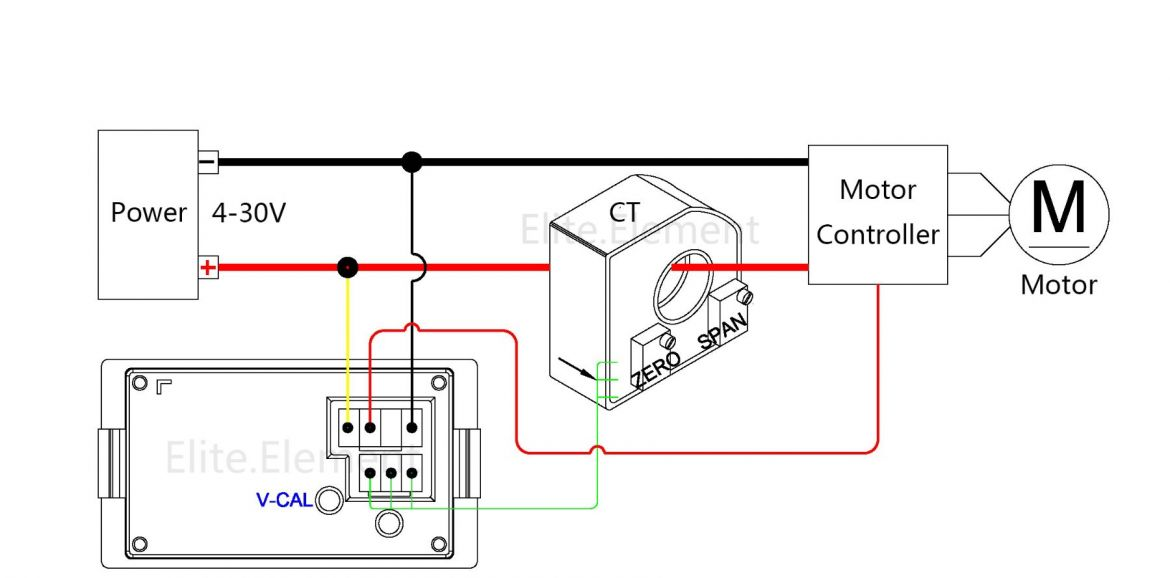 DC Combo Meter With Hall Sensor Charge Discharge Current