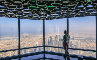 Top of Burj Khalifa Dubai Skyline 1
