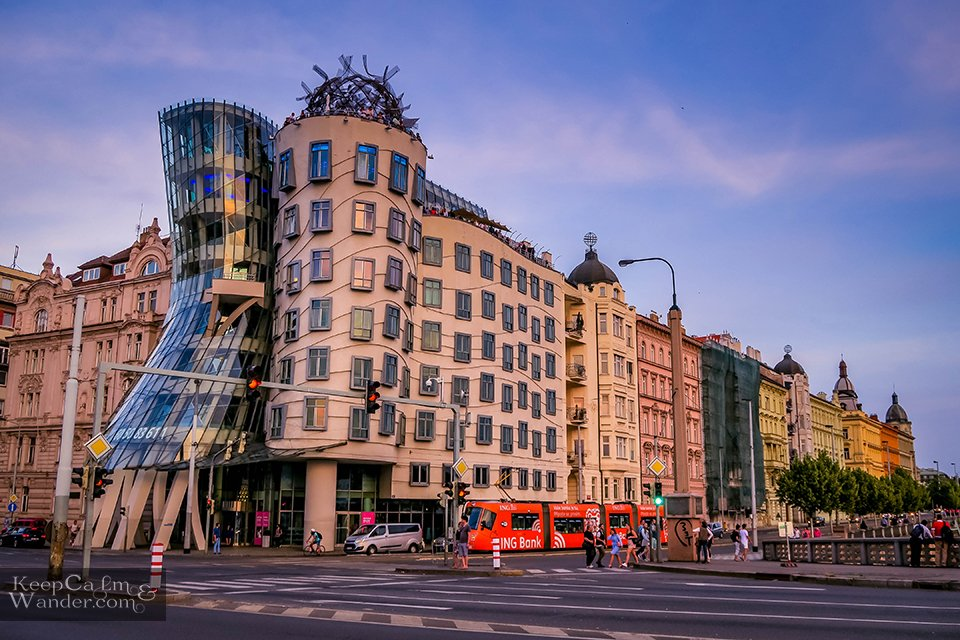 Dancing House in Prague - Who Are These Dancers?