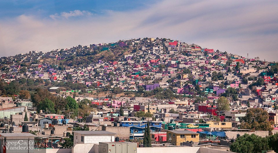 Through Ecatepec and Its Colourful Houses on the Hills (Mexico City).