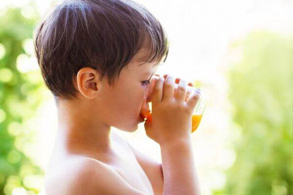 The idea that fruit juice is a good way to get healthy vitamins and minerals into children while hydrating them is a myth. My kids don't drink juice everyday ... here's what they drink instead.