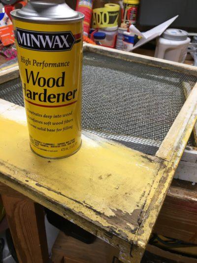 Wood hardener is good for stabilizing rotting wood