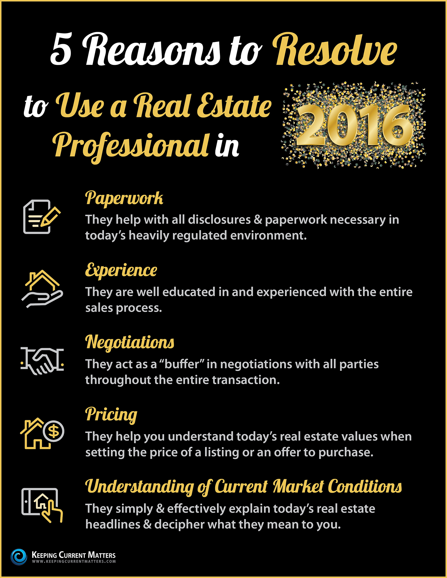 Resolve to Use a Real Estate Professional in 2016 [INFOGRAPHIC] | Keeping Current Matters