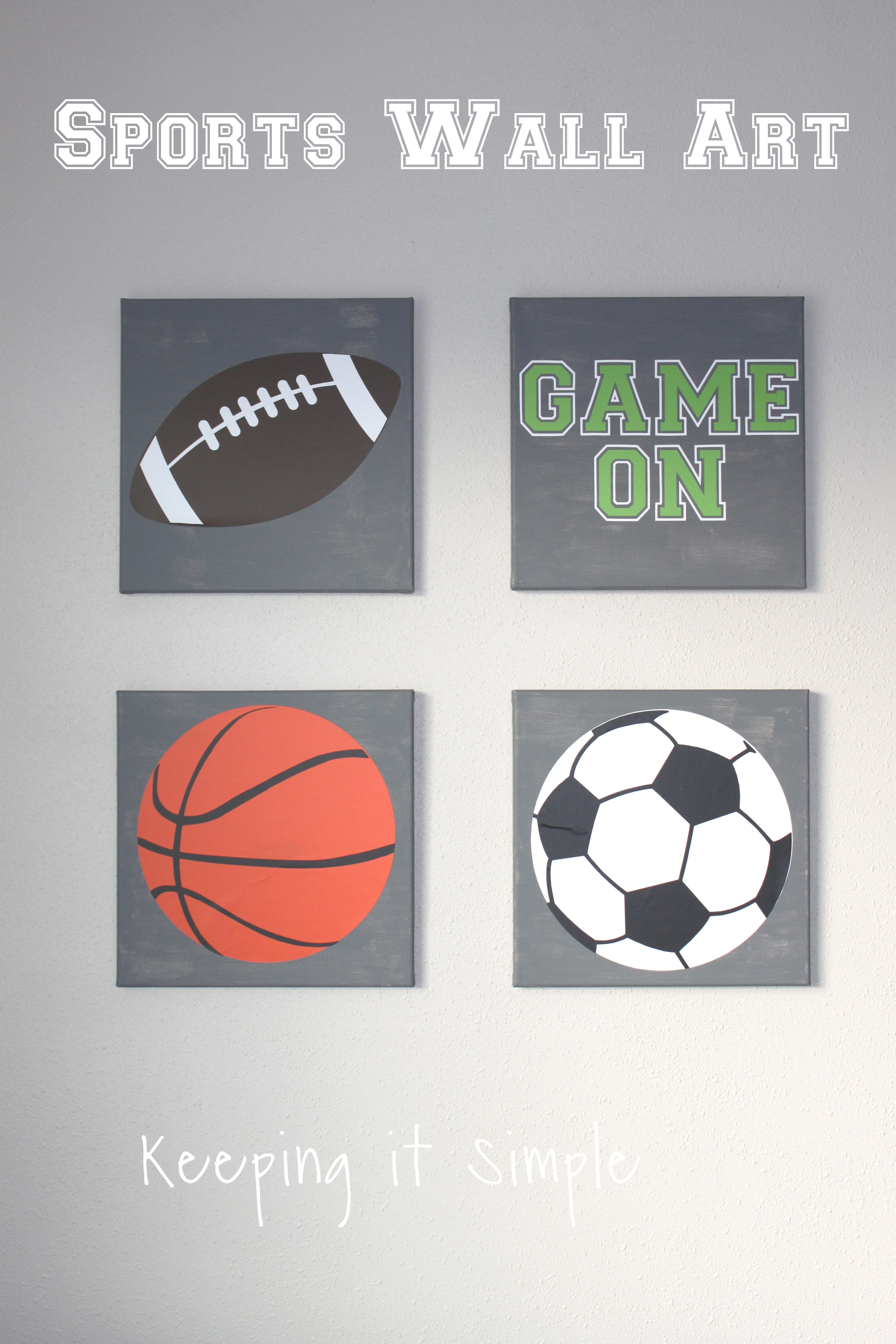 Sports Wall Art With SVG Cut File Keeping It Simple