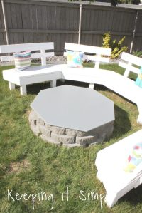 Backyard Ideas- DIY Fire Pit Cover  Keeping it Simple