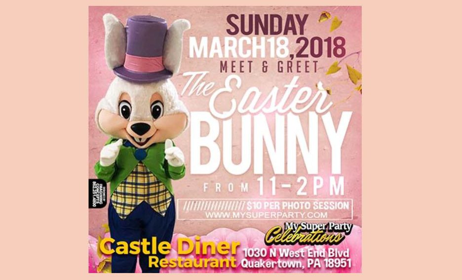 Meet and greet the easter bunny keeping kids connected easter bunny castle diner m4hsunfo