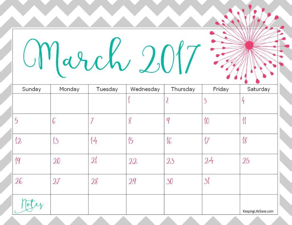Free Calendar For You To Print
