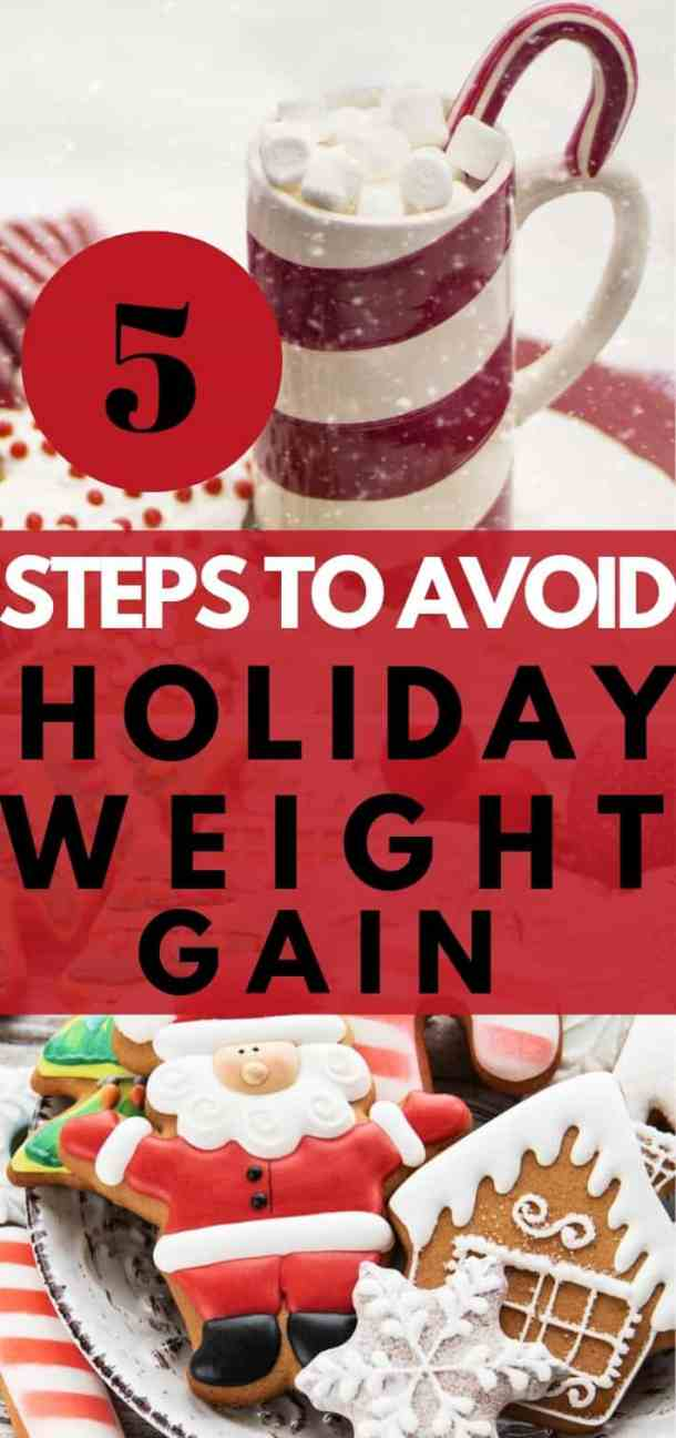avoid holiday weight gain pin