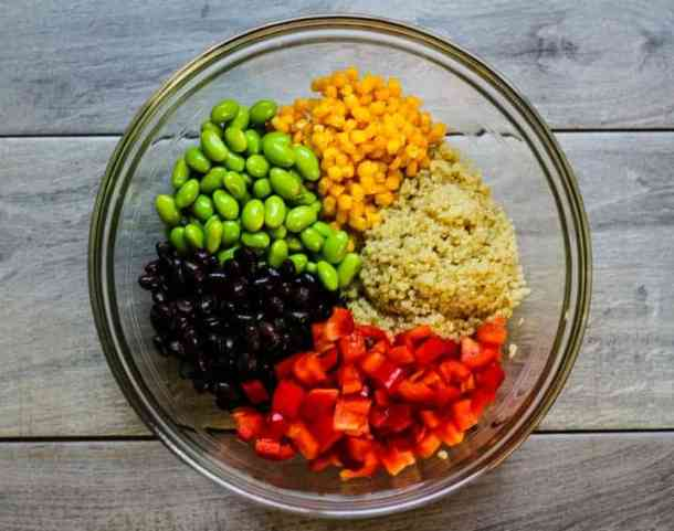 black bean quinoa salad ingredients