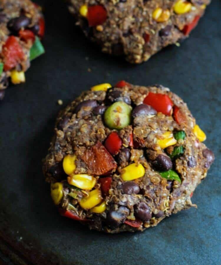 black bean quinoa burger patty
