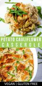 vegan potato casserole pin