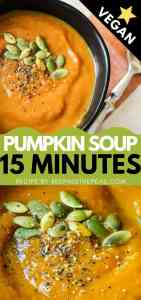 vegan pumpkin soup pin